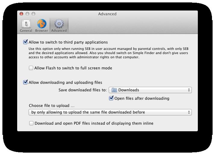 Safe Exam Browser: User Manual SEB for Mac OS X